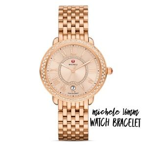 MICHELE 16MM SEREIN 16 ROSE GOLD BRACELET STRAP
